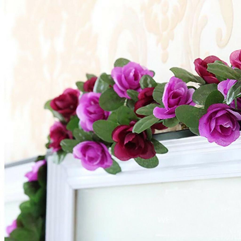 1//2Pcs 2.5m Ivy Garland Hanging Bud Vine Flower Wedding Party Home Decoration