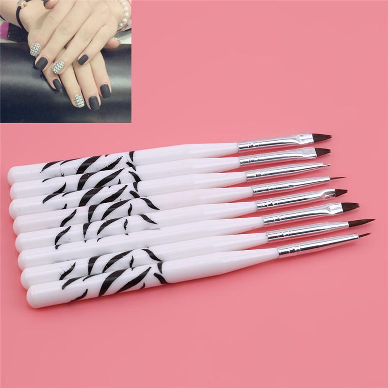 Живопись УФ кисть ногтей искусство ложные советы порошок геля рисунок дизайн ручка маникюр инструменты фото