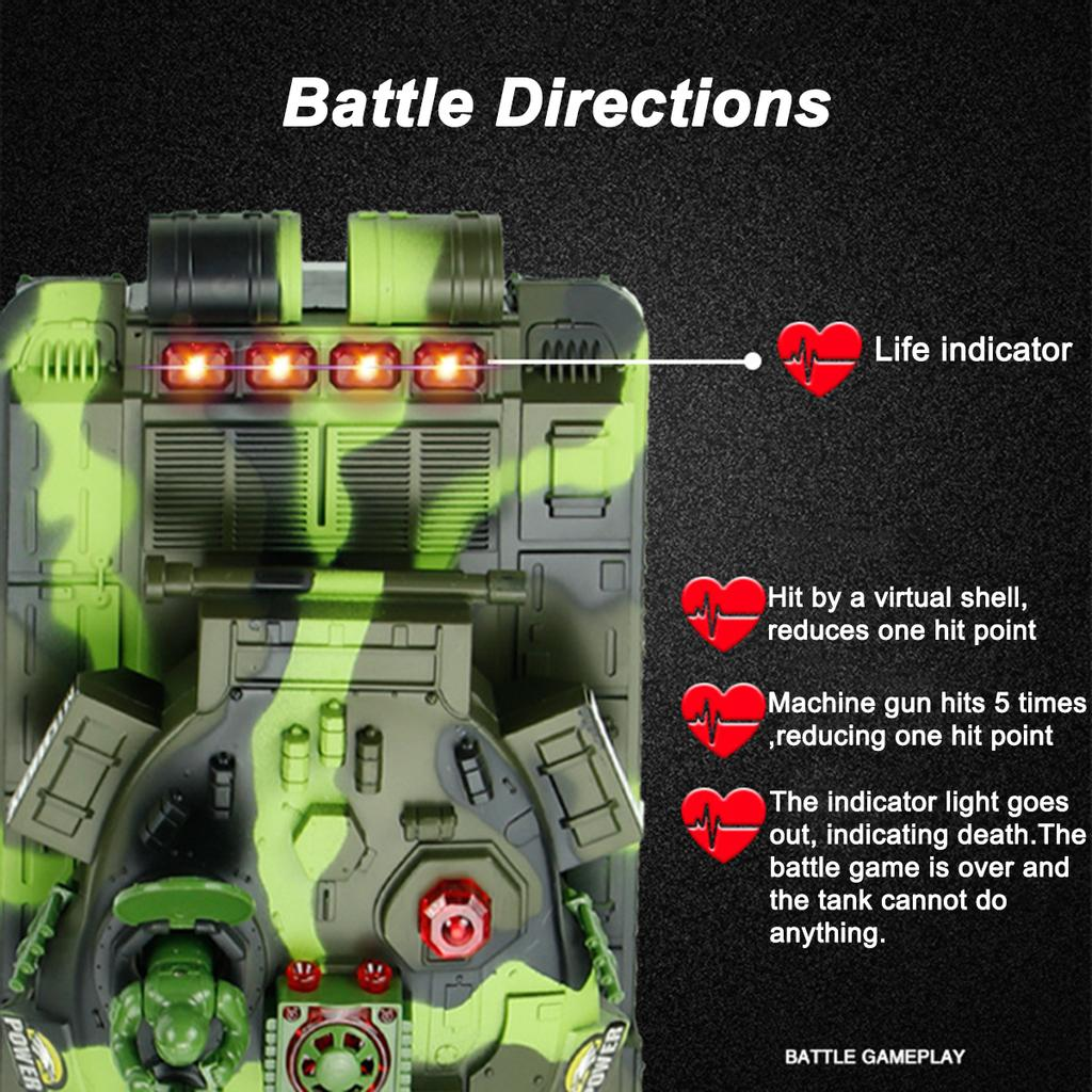 Details about  /33//44cm RC War Tank Remote Control Vehicle Military Main Battle LED Toy Off-road