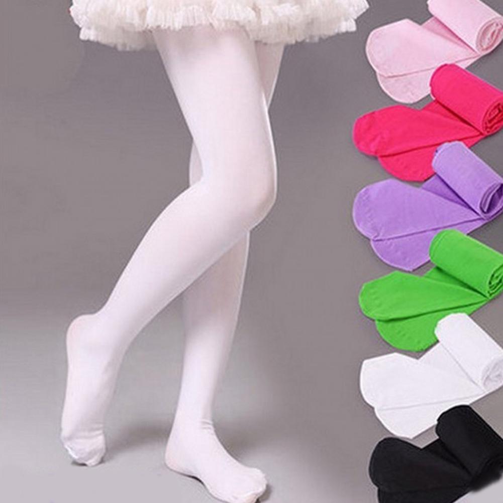 春季薄款儿童连裤袜 天鹅绒女童白丝袜 高弹学生舞蹈袜子