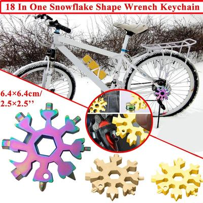 Snow keychain tools Snowflake shape wrench keychain multi-function gadget