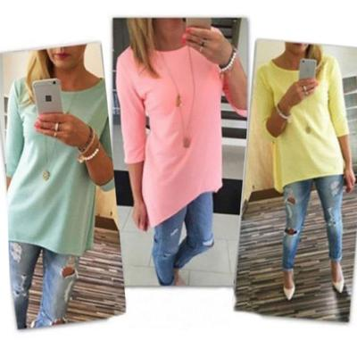 ebb7fb1601534 Cute UK Summer Womens Casual Tops Blouse Short Sleeve Crew Neck Floral T-Shirt  Ladies