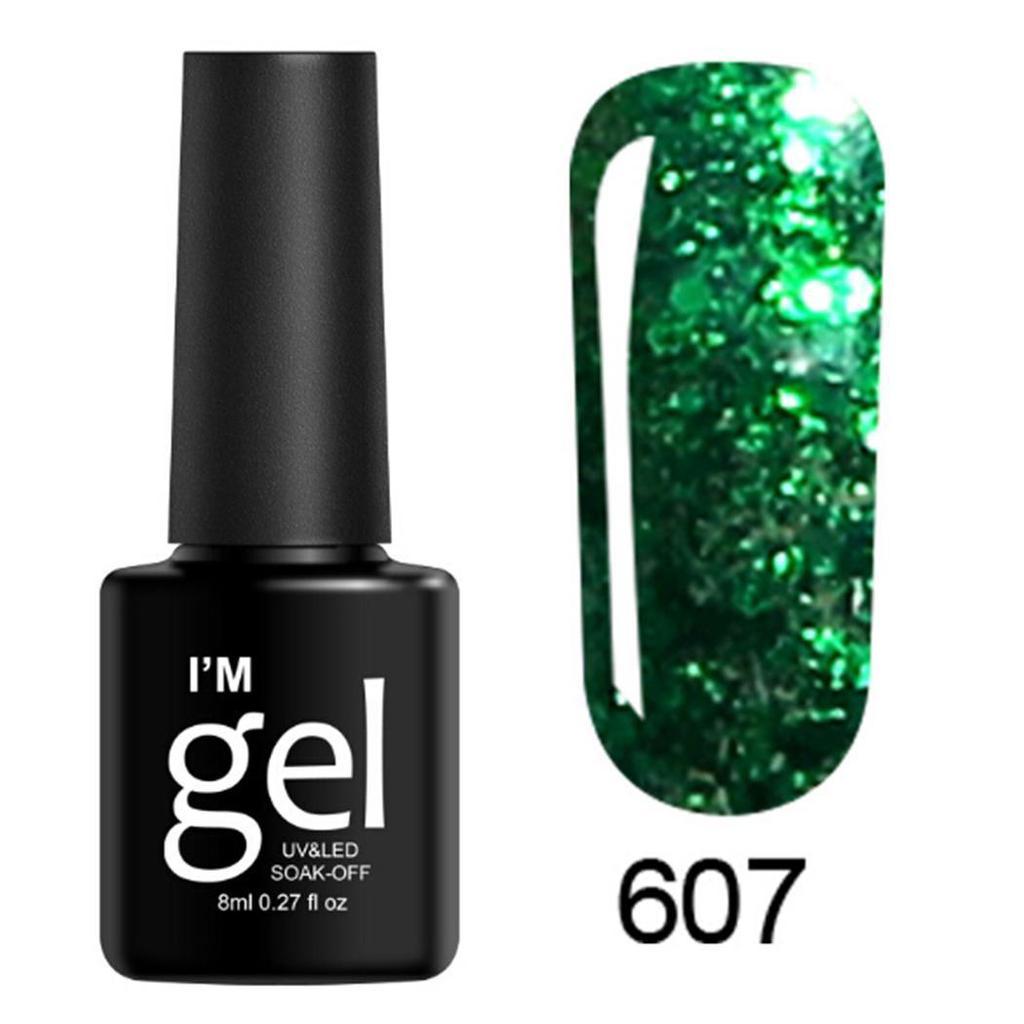 Hyshe belleza brillo Soak Off UV Gel de LED Polaco uñas arte ...
