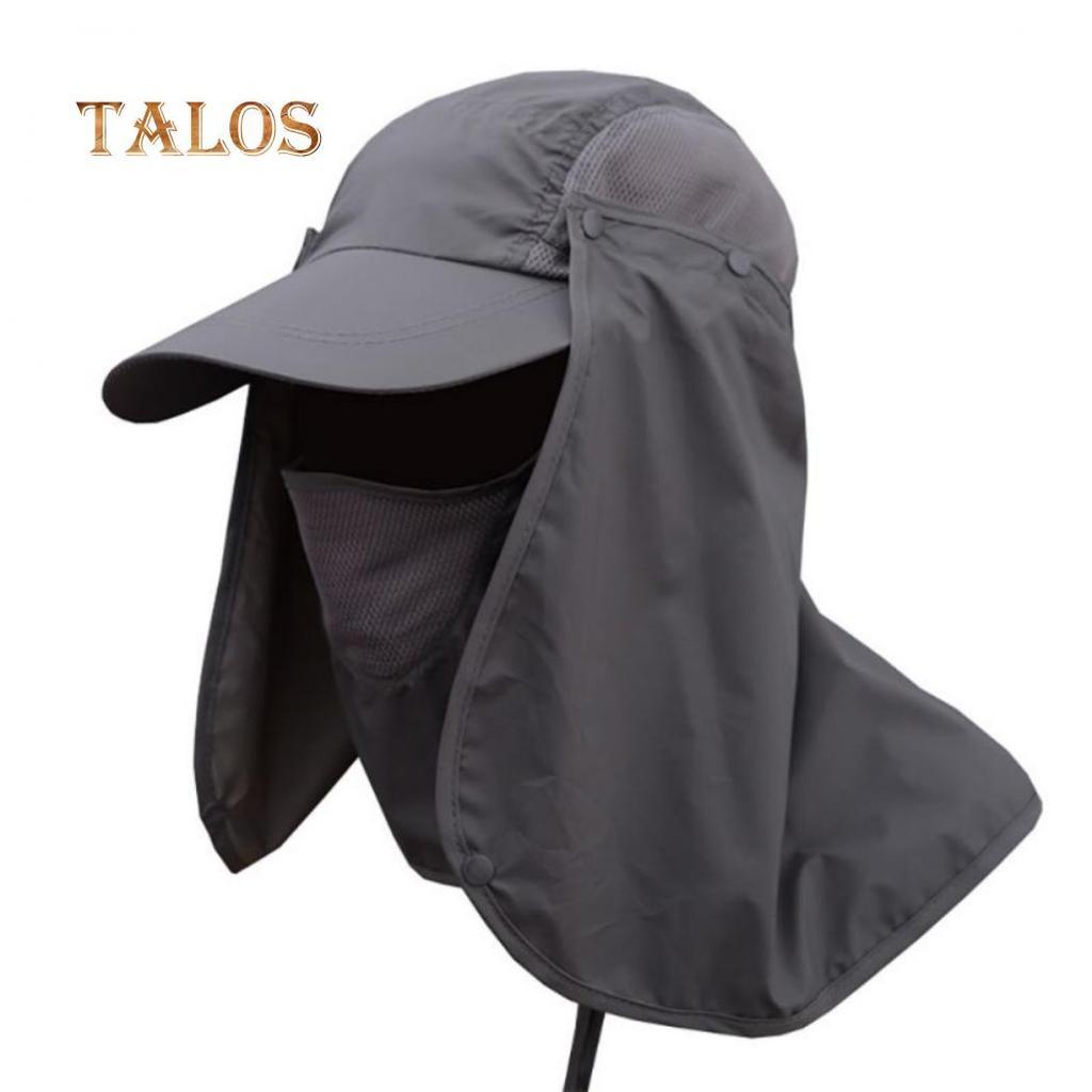 Men Women Outdoor Sport Fishing Hiking Hat UV Protection Face Neck Flap Sun Cap