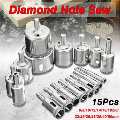Alloy Triangle Bit for Ceramic Tile Marble Mirror Glass HONJIE 6mm Ceramic Drill Bit Set Cement Wall Drill Bit (10pcs)