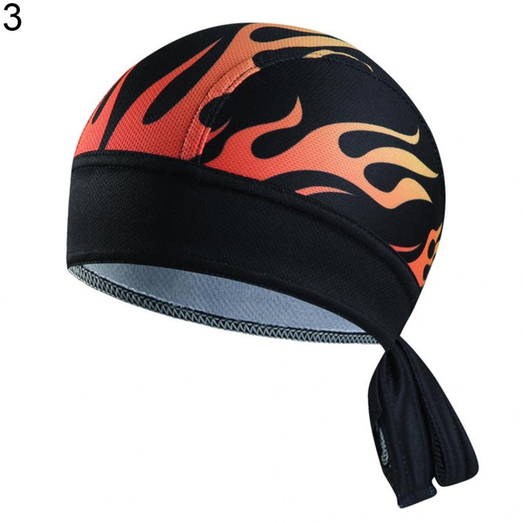 LOT of 12 FLAMES SKULL Cap BIKER FITTED Head Bandana W//Ties DOO DO DU RAG