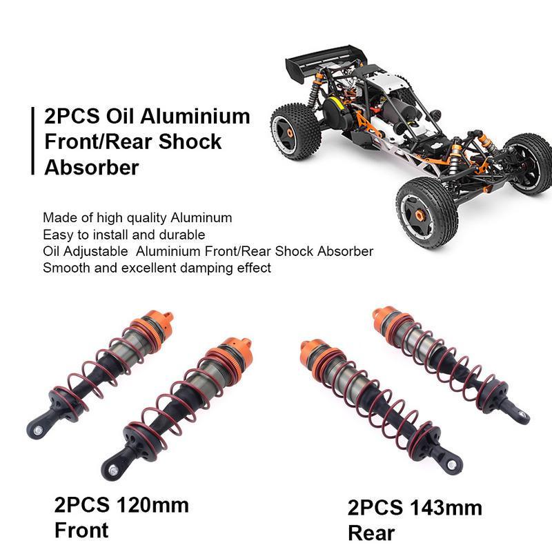 Purple RC Shock Absorber Metal Oil Pressure Adjustable Shock Front /& Rear Damper Compatible with 1//8 RC Car