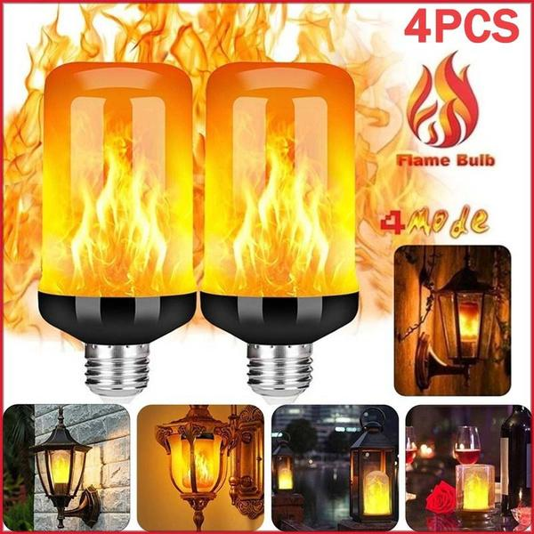 1 Pack LED Flame Effect Simulated Flicker Nature Fire Bulbs Light Decor E12 Lamp