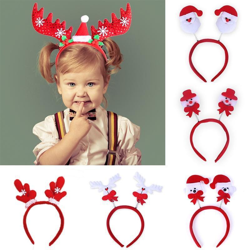 Christmas Baby Girls Head band Santa Xmas Hair Accessory Clasp Hair Head band 03