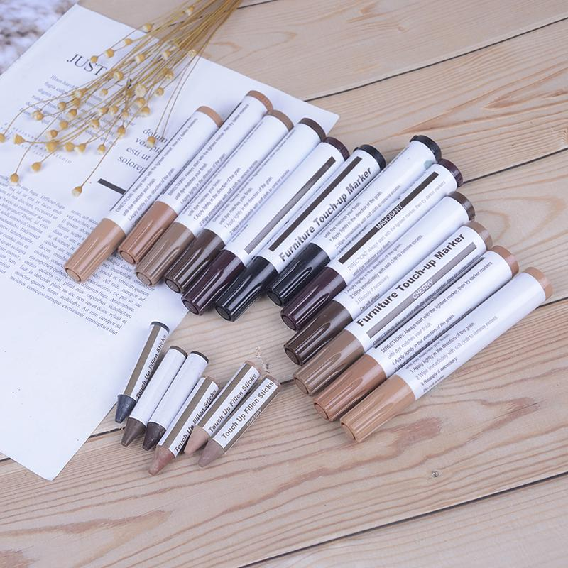 wood furniture touch up kit marker pen wax  filler remover repair fixHFUK