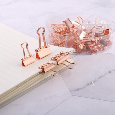 2.5 x 2 5pcs//Set Metal Long Tail Clips Office Supplies Simple-Style Lovely Hollow Wire Binder Clips 8 Colors Silver