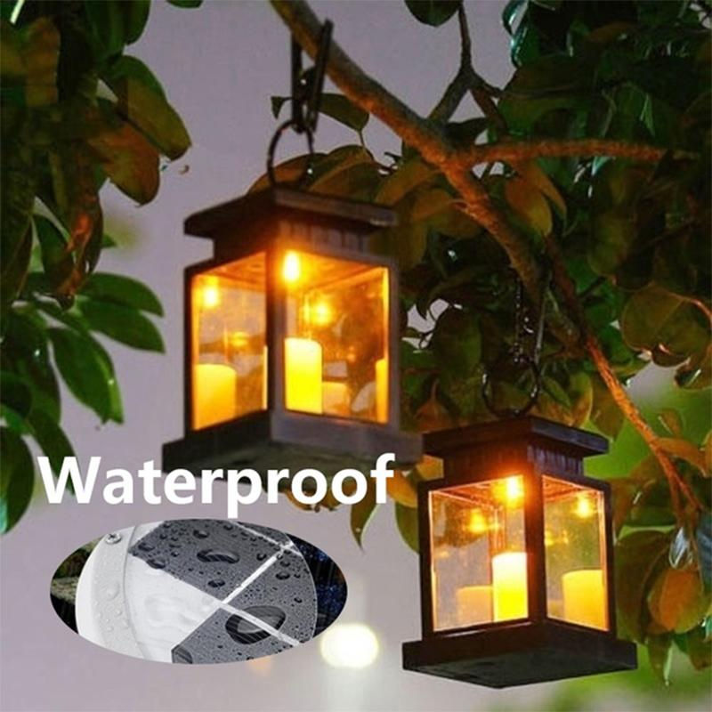4-20X Solar Lantern Hanging Light LED Yard Outdoor Patio Garden Lamp Waterproof