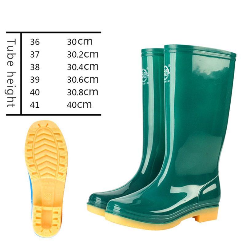 71d928ebbf32 Women s Galoshes Rubber Rain Boots Non-slip Wear-resisting Water ...