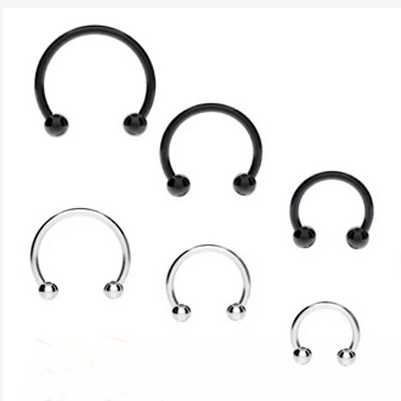 Tragus Helix Orbital Piercing Wire Wrapped Cartilage Hoop Earring Nose Hoop Rasta Beaded Cartilage Hoop Earring Endless Hoop