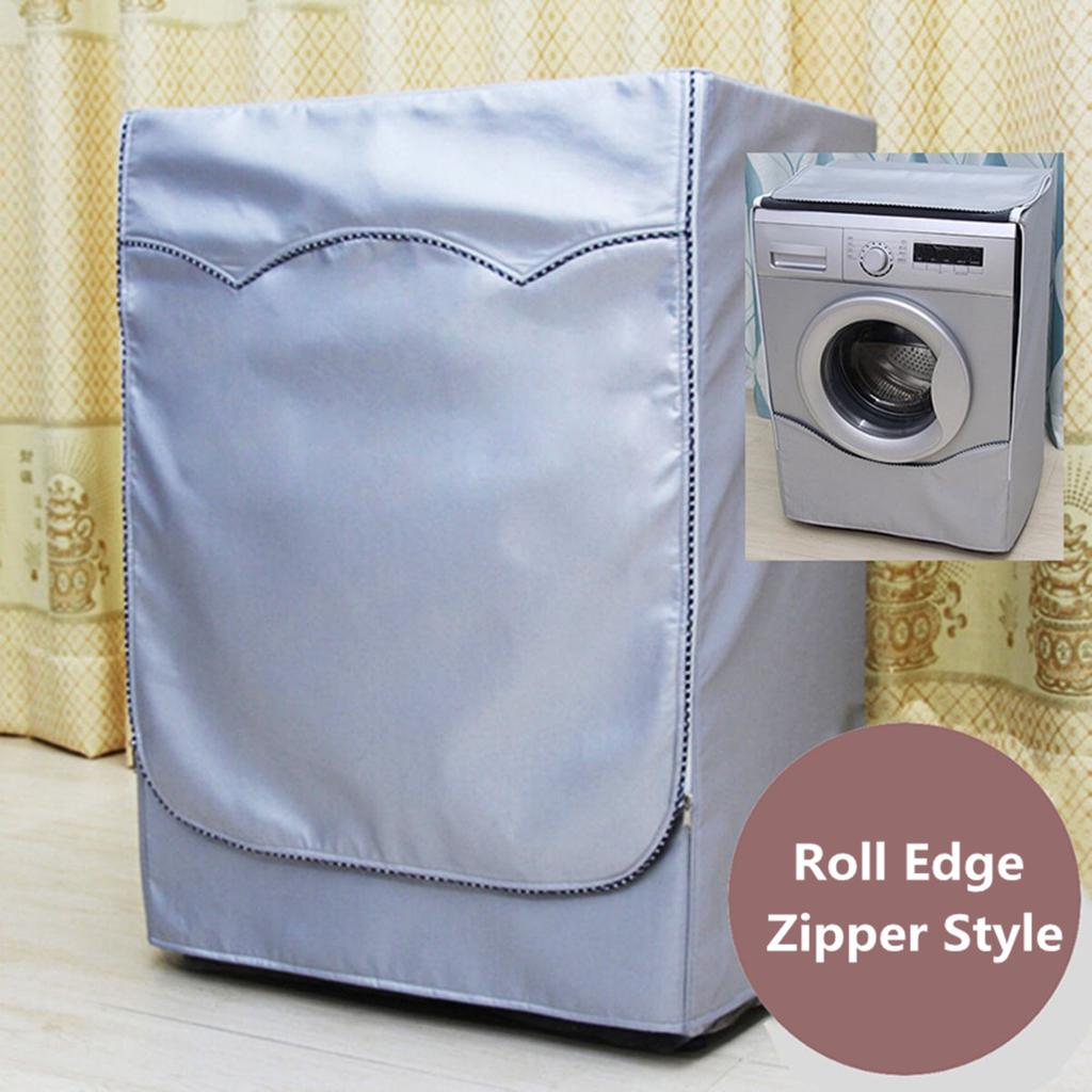 BESTEU Washing Machine Cover For Front Load Washer Home Sunscreen Laundry Dryer Waterproof Dust Proof Case Protective Dust Jacket