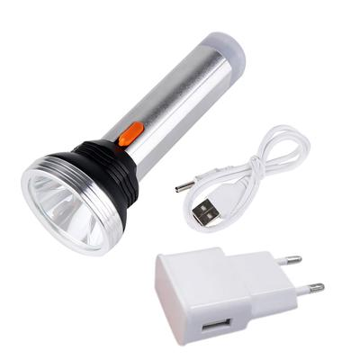 3W USB LED 3 Modes Flashlight Head Lamp Power Bank Extension Light Torch Alloy