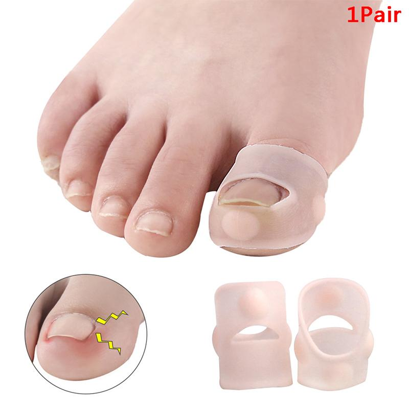 1Pair Bunion Toe Separator Foot Care Tool Silone Fabric Hallux Valgus Correction