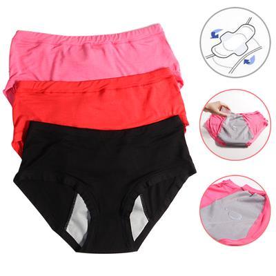 Women Menstrual Panties Period Physiological Pants Cotton Leak Proof Underwear Breathable Briefs