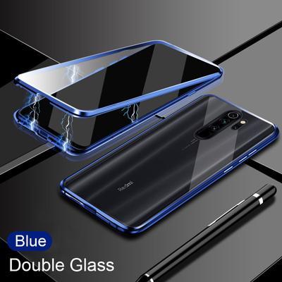 Transparent Glass Metal Magnetic Case For Xiaomi Redmi 9 9A 9T Mi 10T Lite Magnetic Cover For Redmi Note 10 9 Pro 9s 8T 8pro Case