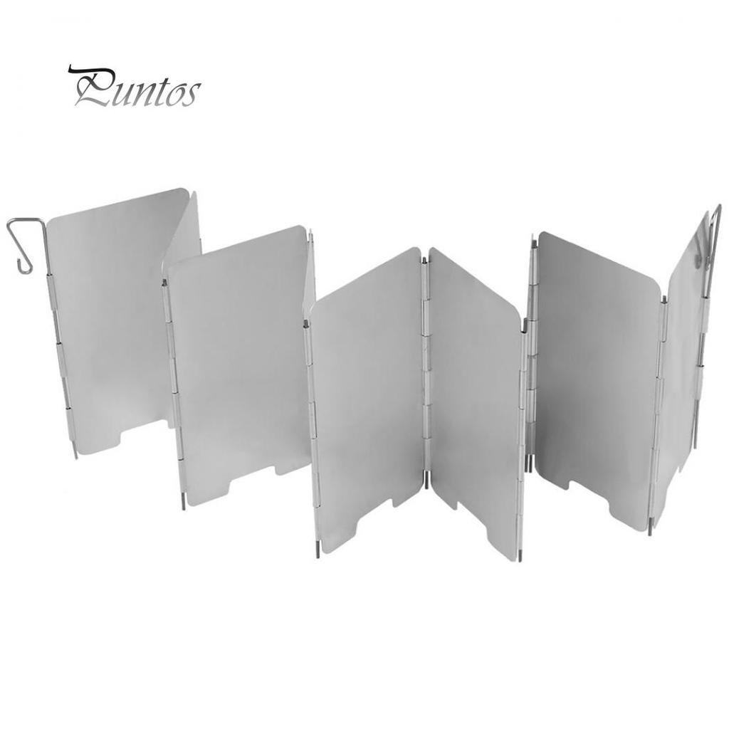 9 Plates Wind Deflectors Foldable Outdoor Camping Gas Stove Wind Shield Scre PI