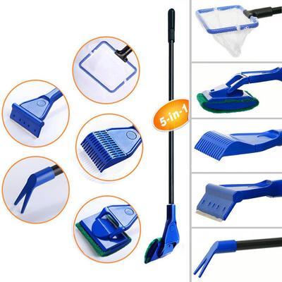 Acuario Remover Algas Limpiador Eficaz Planta De Vidrio Cepillo Rascador Cleaning & Maintenance
