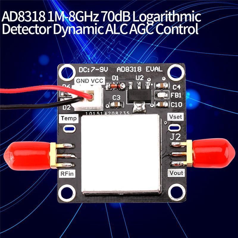 Logarithmic Detector AD8318 1M-8GHz 70dB Logarithmic Detector Dynamic ALC AGC Control Radio Frequency Detection