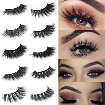 42ddfa9fbc 1 Pair Makeup Fake Eye Lashes Handmade Eyelashes Mink Cosmetic Cosmetic  Beauty Tool Soft