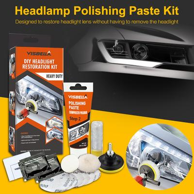 VISLONE Automobile Headlight Restoration Kits Car Headlight Polish Repair Tool Glass Scratch Repair Headlight Renovation