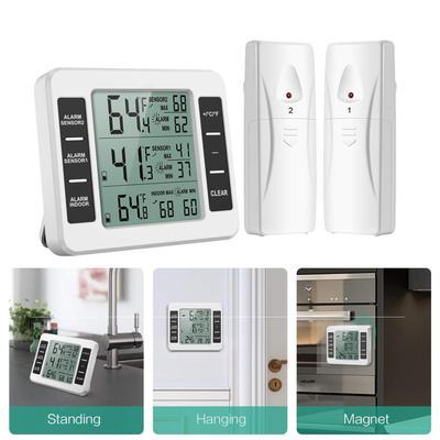 Lcd Wireless Digital Freezer Thermometer IndoorOutdoor
