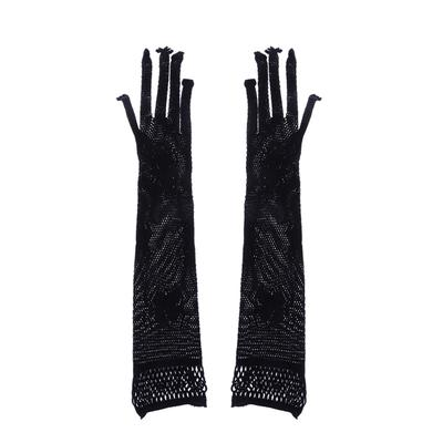Dirance Etiquette Openwork Evening Gloves Women Elbow Length Retro Opera Props Wedding Gloves