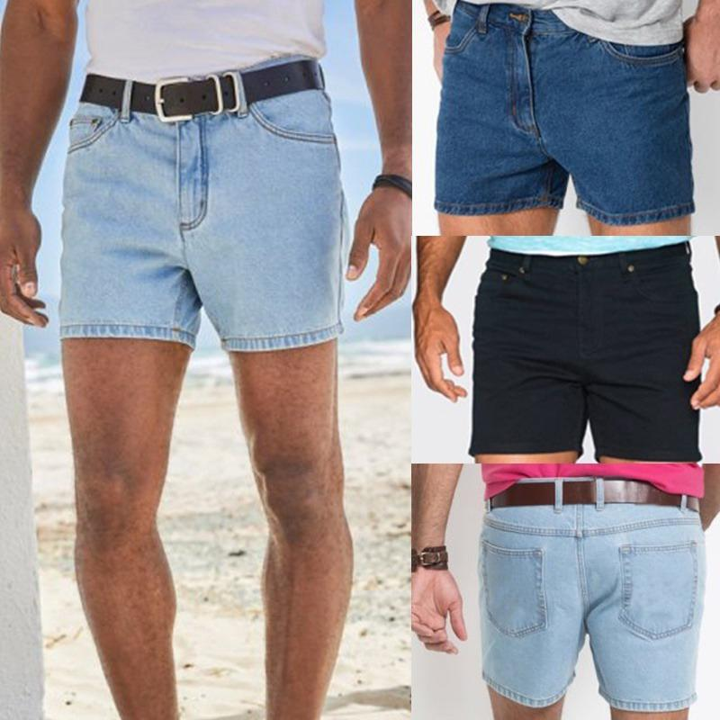 Men Shorts Slim Fit Stretch Flat Front Summer Casual Solid Color Pants Trousers