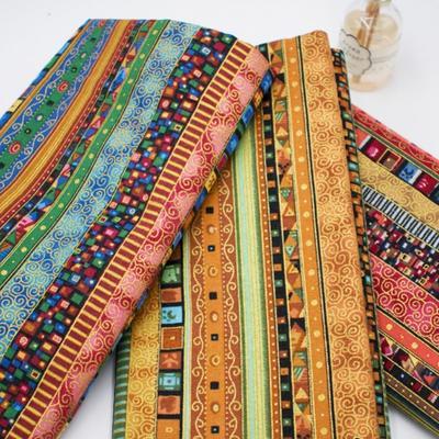 Stripe Tribal Ethnic Fabric Floral Upholstery Curtain DIY Boho Cotton Retro Home