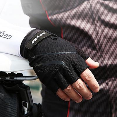 Cycling Gloves Outdoor Sports Breathable Half Finger Sponge Pad