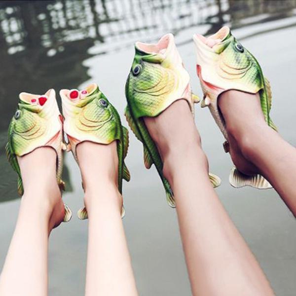 Moda Mezczyzna Kobiety W Ksztalcie Ryby Para Letnie Odkryte Sandaly Zielone Buty Plazowe Karpia Kup W Niskich Cenach W Sklepie Internetowym Joom