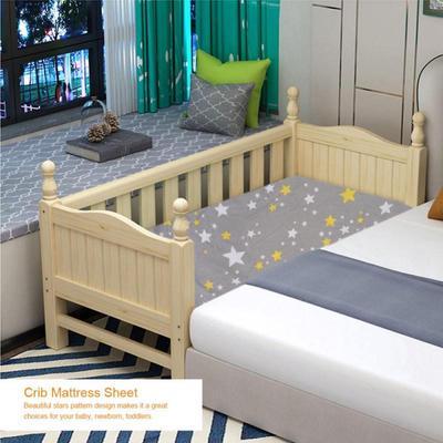 3d256368 Estrellas patrón algodón bebé cama sábana recién nacido Niño pequeño bebé  cuna funda Protector de colchón