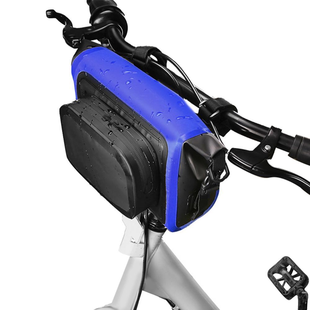 Bicycle Handlebar Front Bag black Waterproof Cycling Panniers Bag Large capacity
