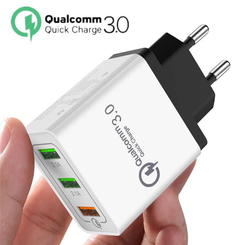USB Телефон Зарядное устройство для iPhone 7 8 Плюс XR XS XS Путешествия Стенное зарядное устройство для Samsung S10 Примечание 10