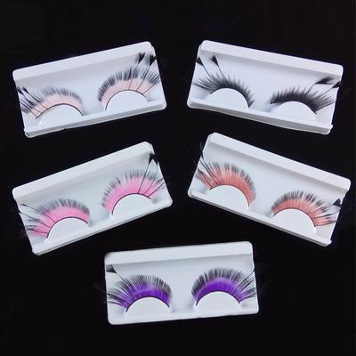 1b0aaf25b33 Feather False Eyelashes Exaggerated Stage Arts Eyelashes Feathering Creative  Makeup Thick