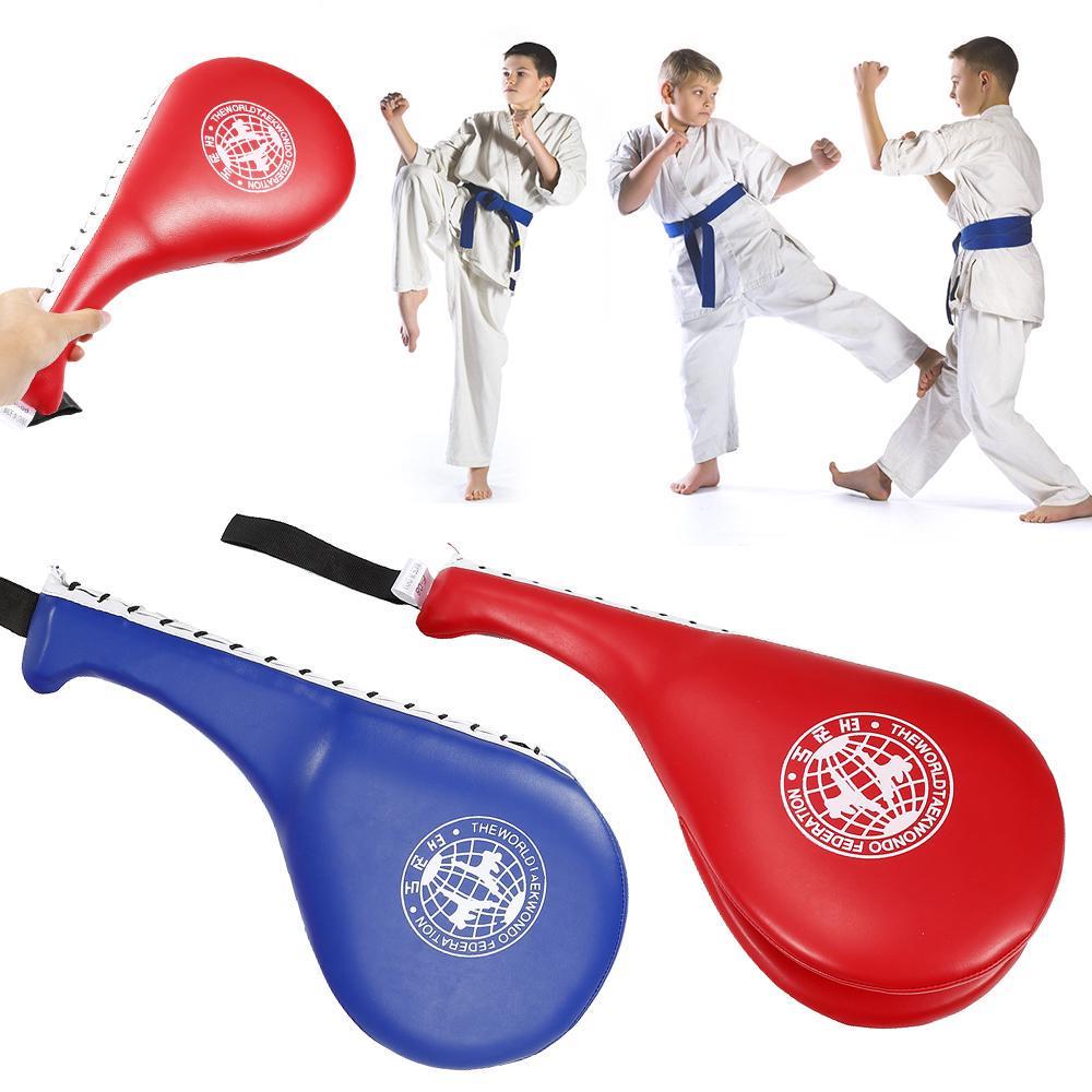 Double Kick Paddle Target Pad Strike Punches Punching TKD MMA Taekwondo Exercise