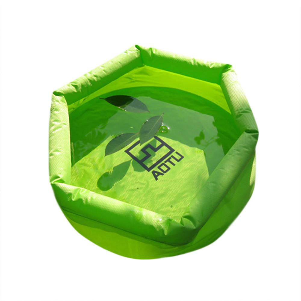 5//10L Draussen Camping Faltbar Zusammenklappbar Wasser Tasche Auto Wasser Träger