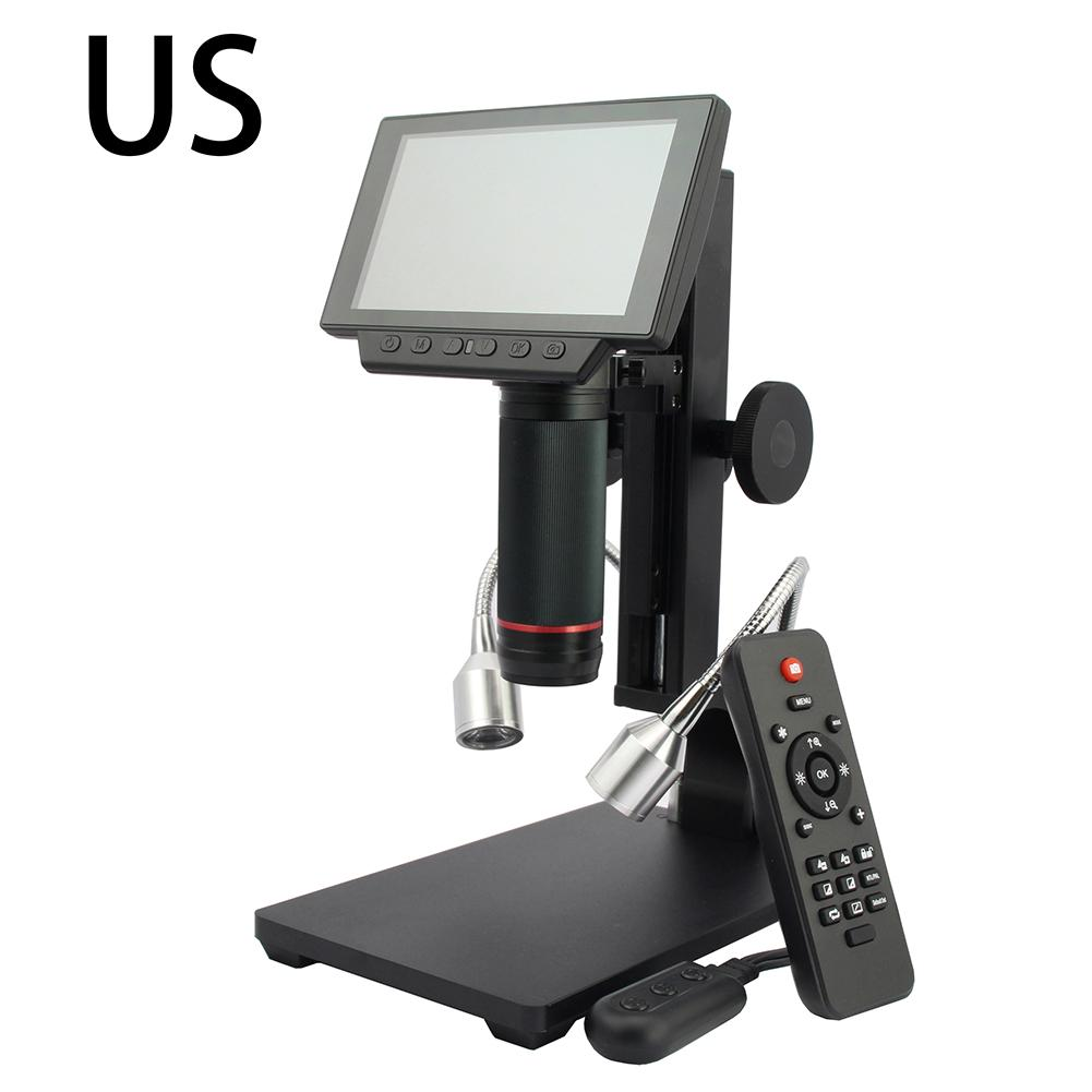 with 5inch Large Screen Display Microscope with Screen Digital Microscope Circuit Board Welding for Cell Phone Repair