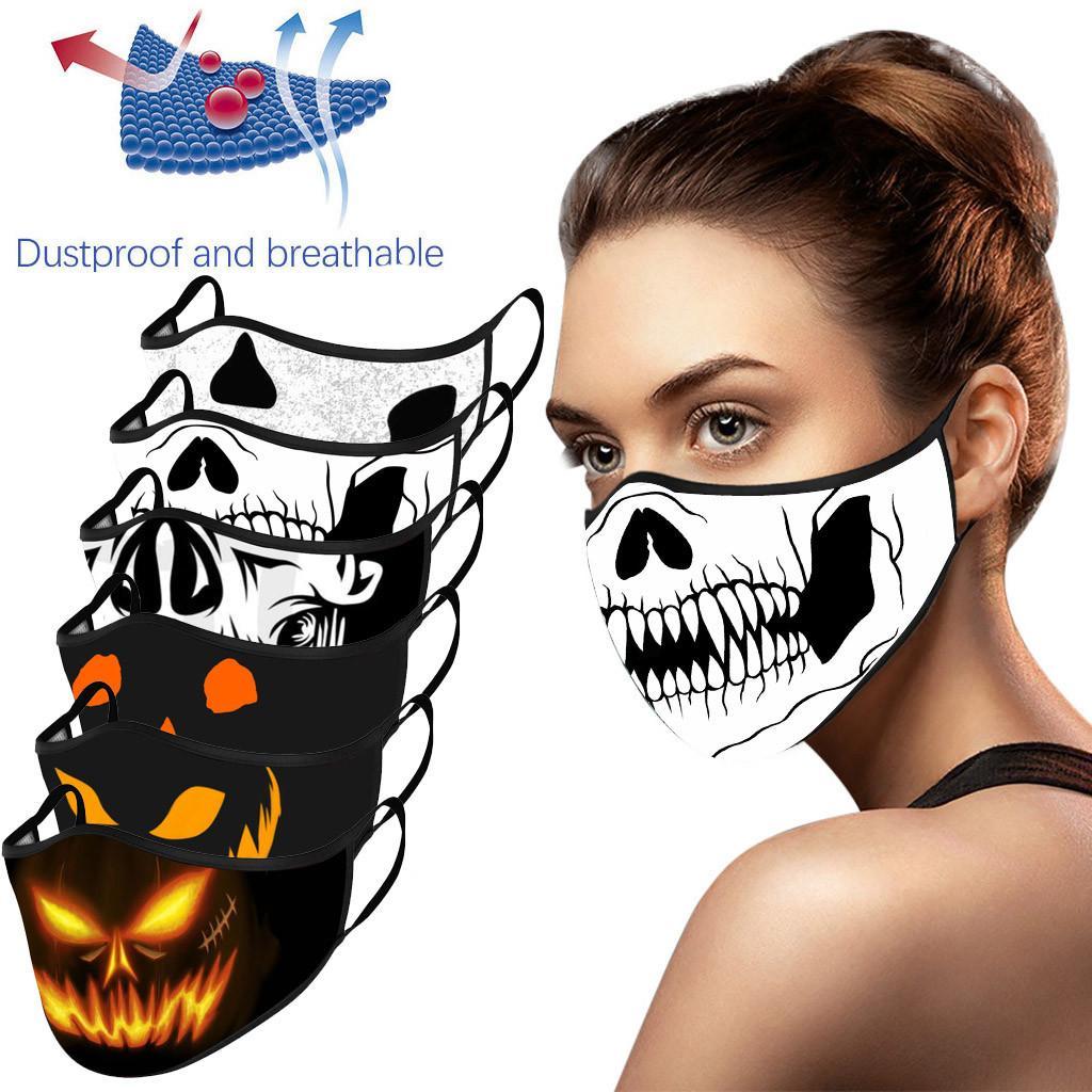 Хэллоуин Череп Взрослый Велоспорт Бег Ветрозащитная стиральная маска – купить по низким ценам в интернет-магазине Joom