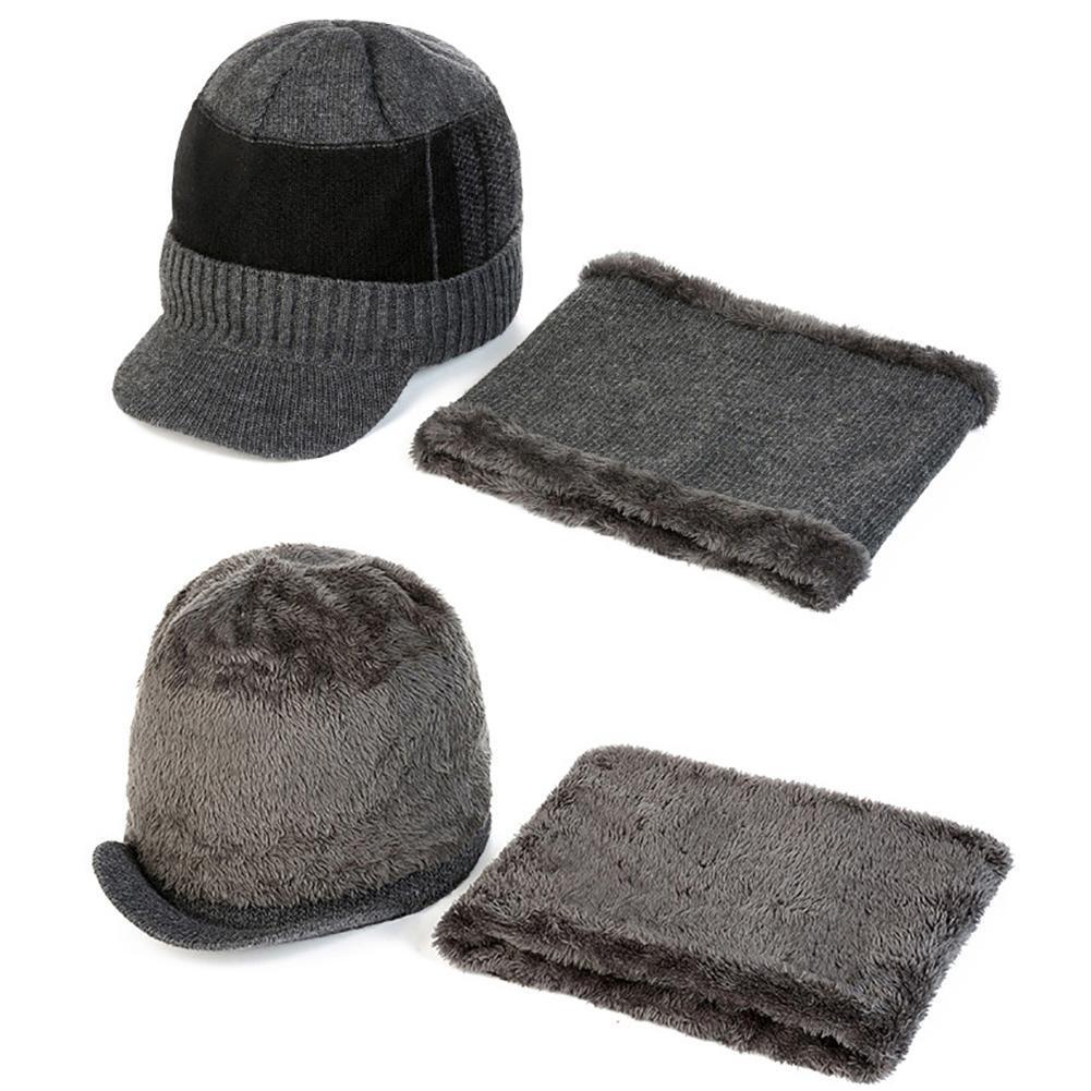Hombres mujeres sombreros Skullies gorros invierno bufanda gorros ...