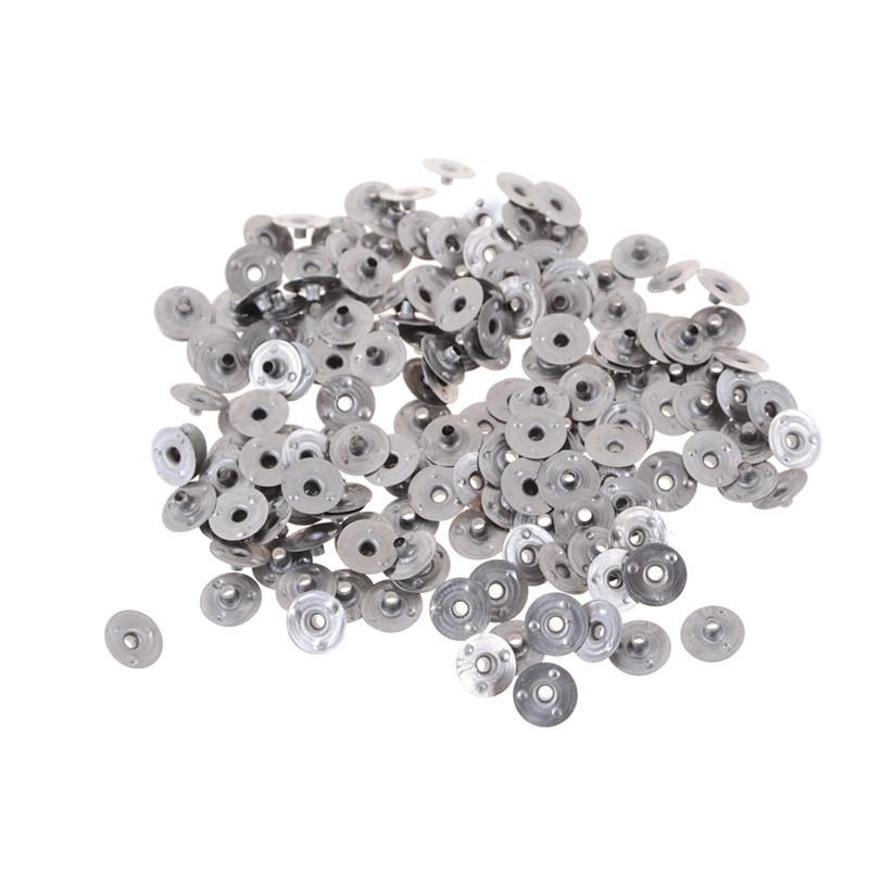 100Pcs Candle Wick Tab Metal Sustainers for Home Craft Art Decor Making Gift 12.5*2.5mm