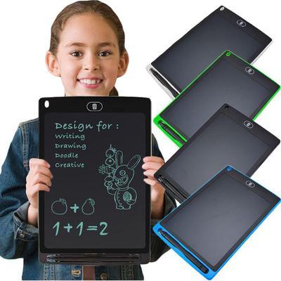 12 Inch Electronic Blackboard//LCD Writing Board//Painting Graffiti Board//Message Board//Suitable for School Office Family Blue