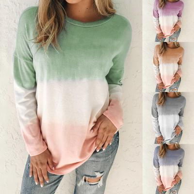 Ladies Casual Top Crew Neck Long Sleeve Shirt Womens T-Shirt Loose Pullover