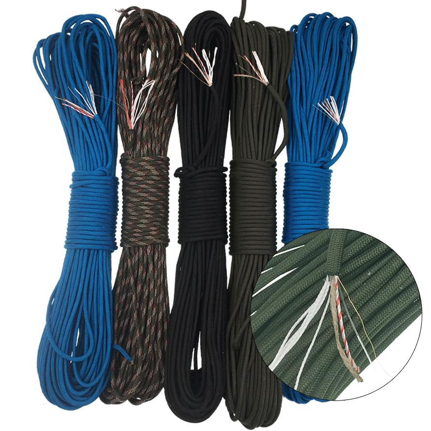16 Feet Parachute Cord 4mm Nylon Cord for Bracelets -JC35 Grey Paracord 550