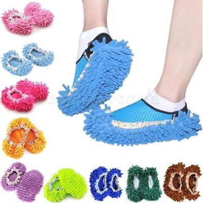 1pcs Dust Floor Cleaning Slippers Shoes