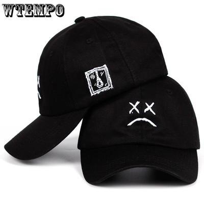 2becf10181681 WTEMPO Wtempo Wtempolil Peep Sad Face Dad Hat Embroidery 100 %Cotton Baseball  Cap Hat Xxxtentacion