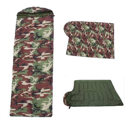 98e15c72636e Portable Waterproof Military Camouflage Polyester Cotton Envelope Camping  Hiking Sleeping Bags